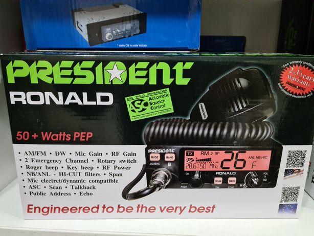 President Ronald Statie radio CB
