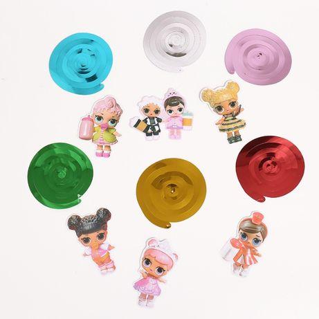 Decoratiuni LOL petrecere copii_Set 7 agatatori 15.5-20 cm