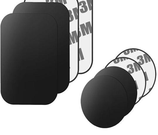 Placuta Metalica Neagra cu Adeziv Pentru Suport Telefon Auto