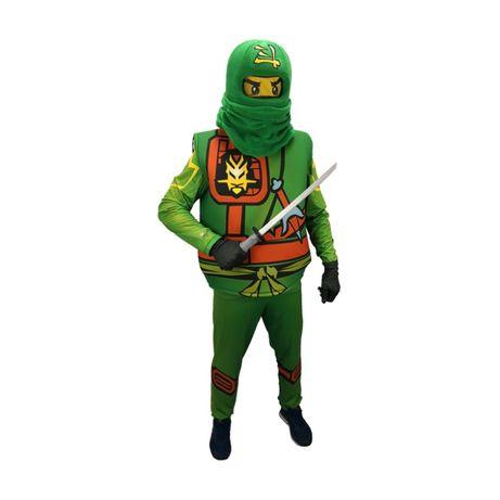 Детски костюм Лего Нинджаго зелено