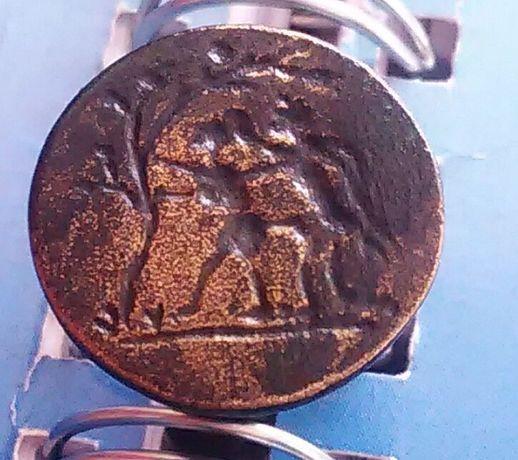 Уникален мн стар бронзов печат с еротична сцена