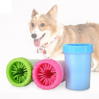 Уред за почистване на лапи на куче/коте