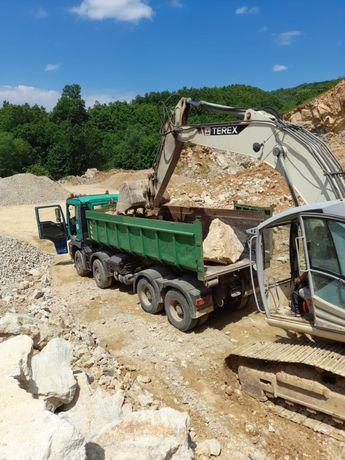 Transport piatra,nisip, sort + alte materiale