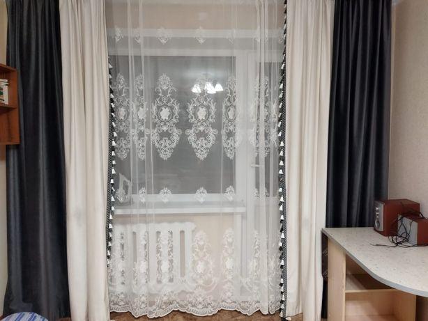 Комбинированные шторы с  тюлью