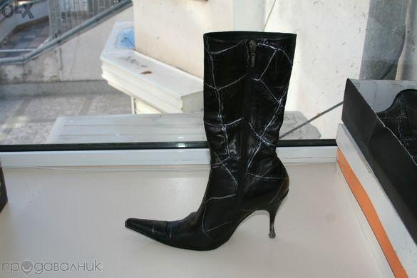 Дамски дизайнерски ботуши от естествена кожа