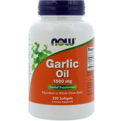 Чесночное масло, Now Foods, Garlic oil, 1500 мг, 250 капсул