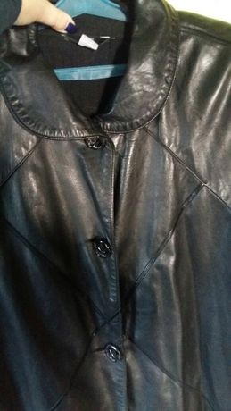Продам куртку парку кожаную