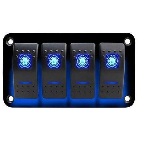 Панел/табло с 4 бутона ON/OFF - универсални за допълнително оборудване