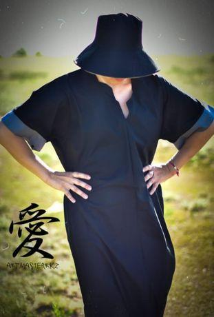 Платье свободного кроя Asian country . Свободный размер 42-48