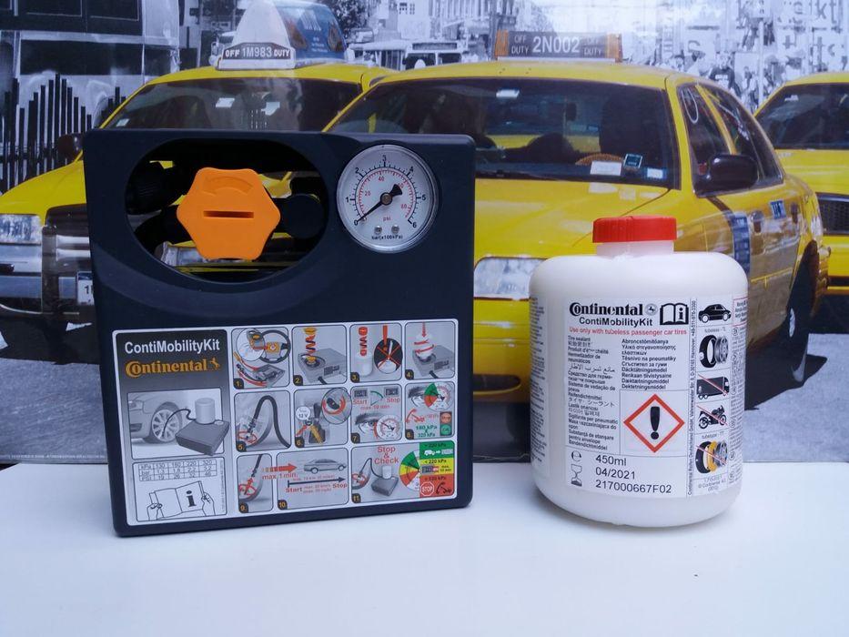 Kit pana umflat roti auto compresor +solutie original Continental 180W Bucuresti - imagine 1