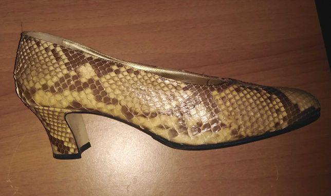 Pantofi originali Walter Steiger, 37 si 1/2, piele naturala de piton
