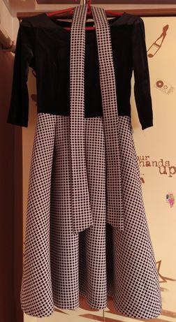 Чёрное велюровое платье 44р