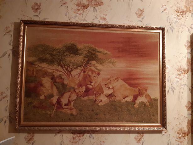 Картина на гобелене Прайд львов