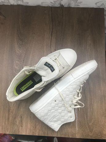 Bascheti din piele naturală , Converse 44 alb