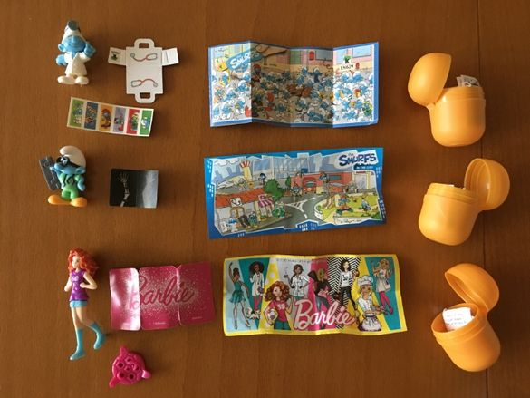 Детски играчки от Киндър - нови и стари