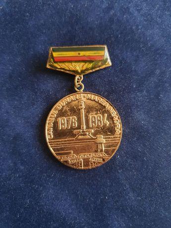 Medalie Canalul Dunare Marea Neagra 1976-1984 comunista