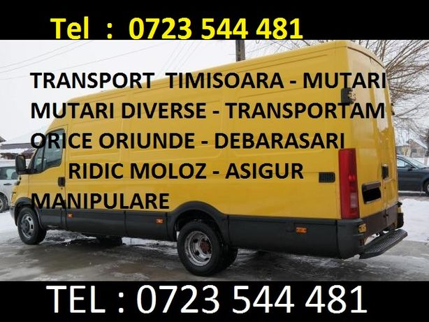 Transport Mutari Mobila Bagaje Diverse Orice Ridic moloz Debrasari