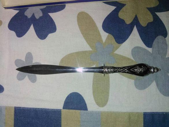 Продавам антикварен сребърен нож за писма Банкок Сиам Уникат