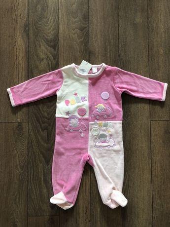 Бебешко гащеризонче ромпър 6 месеца