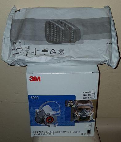 Masca 3M + filtre carbon , Original 3M