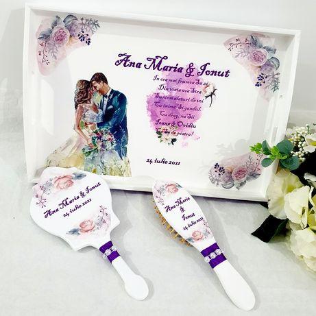 Set tava personalizata pentru gatitul miresei/nunta