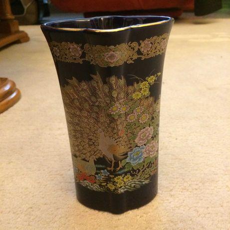 Vaza portelan kobalt Japonia marcata pictata manual decorata