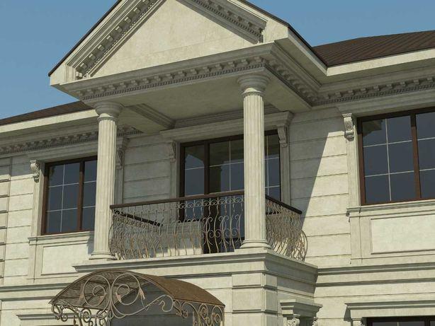 Фасадный декор,декоративные обрамления из пенопласта,облицовка