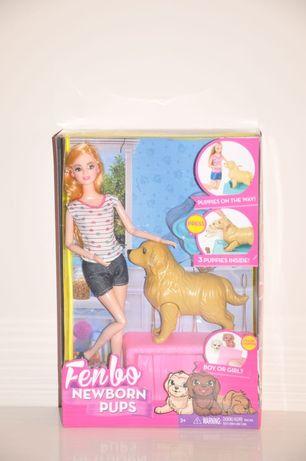 Кукла Барби. Барби и собака. Куклы.