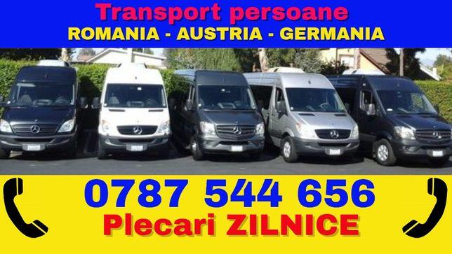 Transport ZILNIC de persoane Romania Austria Germania Olanda Belgia