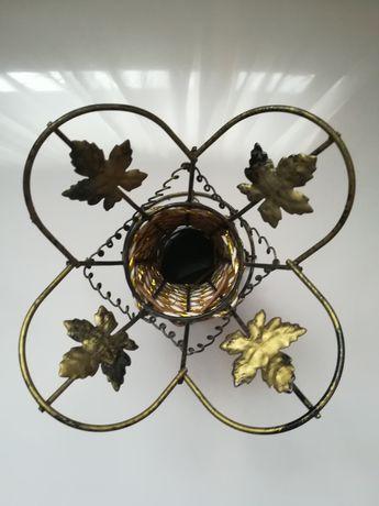 Vaza suport decorație interior frunze metal