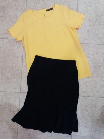 размер М Комплект блуза къс ръкав и пола Marks and Spencer