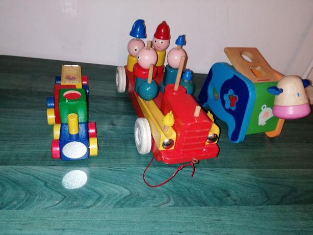 Trenulet jucarie din lemn