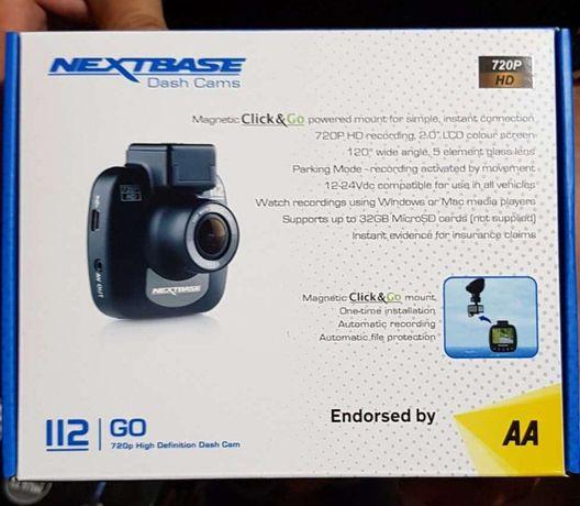 Camera auto DVR Nextbase 112, display led 2, format compact, unghi de