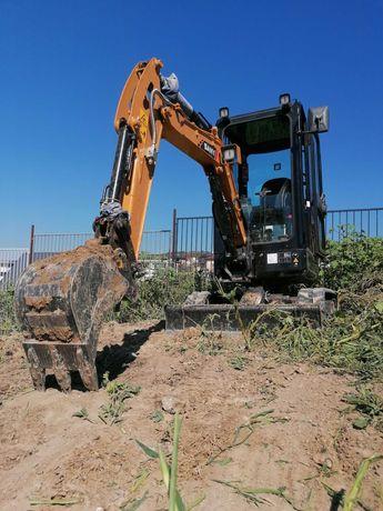Sapaturi fundatii, fose, garduri, amenajare teren cu excavator 2Tone