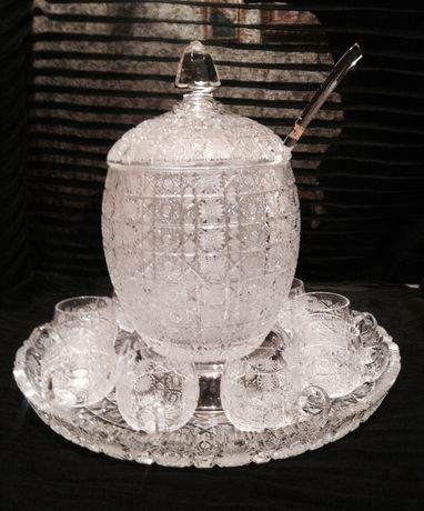 Богемский Хрустальный набор Lead Crystal, пр-во Чехославакия