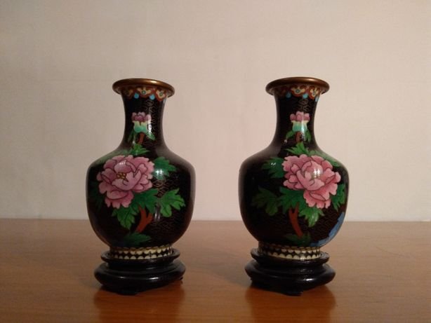 Vaze Asiatice Cloisonne - Vechi si superbe Piese lucrate manual