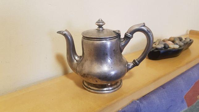 Ceainic cafetiera veche vintage argintată 30 cl