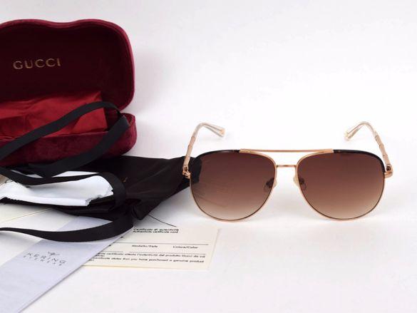 Слънчеви очила Gucci Gold