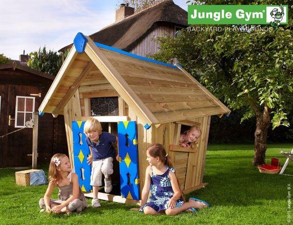Casuta de Lemn Copii – Jungle Gym Crazy Playhouse, Livrăm in Tara