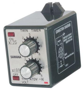 Releu temporizator, mecanic, dublu, 0-60 min