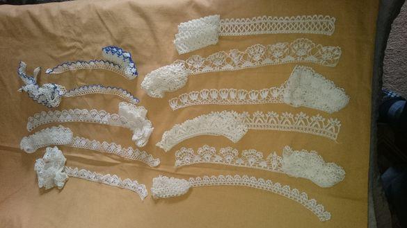 Ръчно плетени дантели за носии и декорация