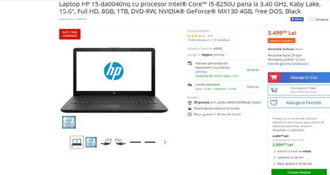 Laptop Hp i5 gen. 8