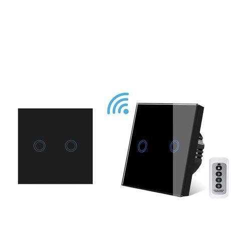 Set intrerupatoare sticla,cap-scara, Wifi+RF, touch, cu telecomanda