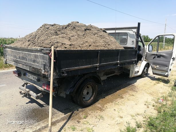 Transport nisip, balastru