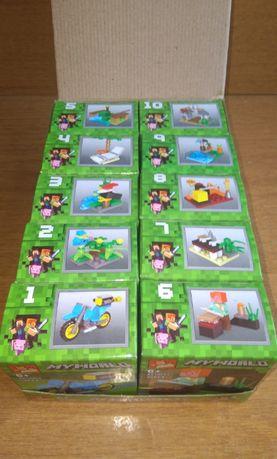 10 в 1 Майнкрафт конструкторчета Minecraft My World