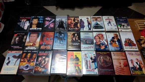 VHS игрални филми екшъни и комедии на видеокасети 25бр