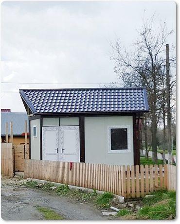 Vand container modular tip casa de locuit din structura metalica învel
