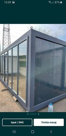 Container birou containere vitrina santier paza