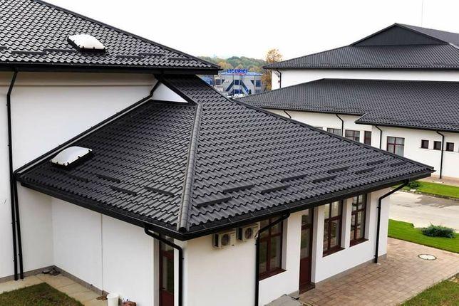 Acoperisuri tigla metalica montaj dulgherie reparatii acoperis