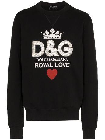 D&G Dolce and Gabbana Royal Love Мъжка Блуза тип Пуловер size 46 (S)